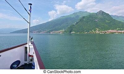 Lake Como (Italy) view from ship - Lake Como (Italy) summer ...
