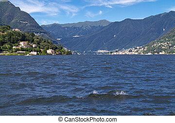 Lake Como near the village of Cernobbio, Italy