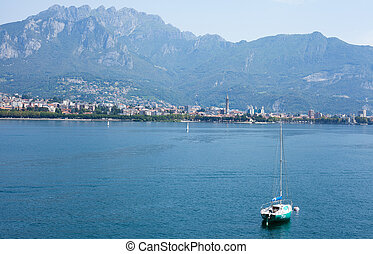 Lake Como - landscape of lake Como in Italy