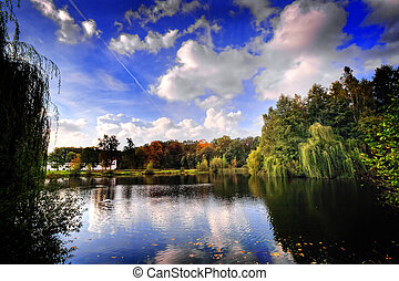 Lake district in Southern Poland