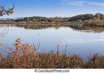 "Lake ""Egglsee"" in Bavaria, Germany, in autumn"