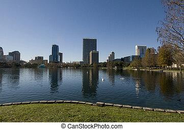 Lake Eola Park in Florida
