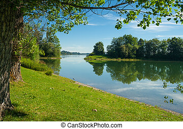 Lake Forggensee near the city F?ssen in Bavaria - Germany