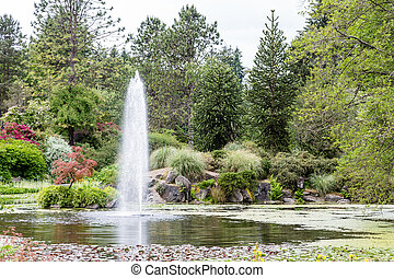 Lake Fountain in Vancouver