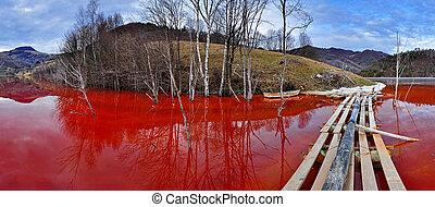Lake full with contaminate residual - Environmental...