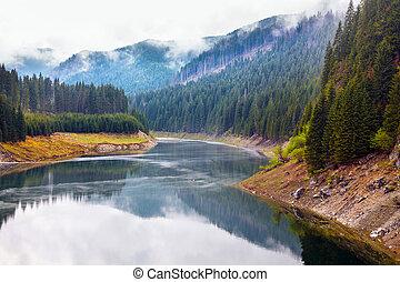 Lake Galbenu in Romania