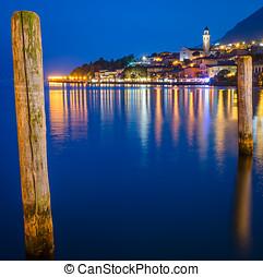 Lake Garda, Town of Limone sul Garda (Lombardy, Italy) at...