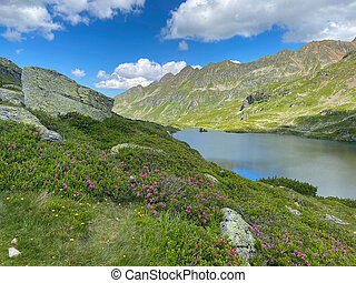 Lake Giglachsee in the Styrian Tauern - Austria