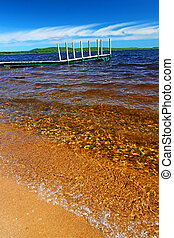 Lake Gogebic Beach Landscape