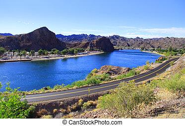 Lake Havasu - Scenic landscape of lake Havasu in Arizona
