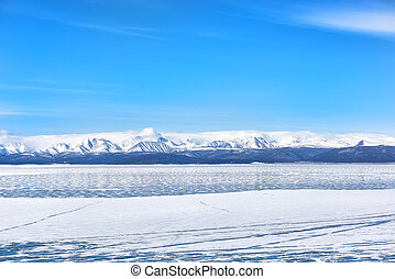 Lake Hovsgol in March. Central Asia. Mongolia
