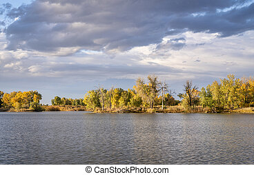 lake in Colorado with a dramatic sky