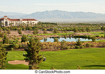 Lake in Desert Golf Course
