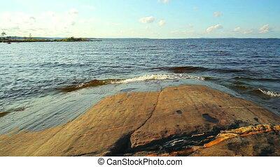 Lake in Finland. - Lake in Finland panorama.