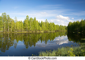 Lake in Lapland, Finland
