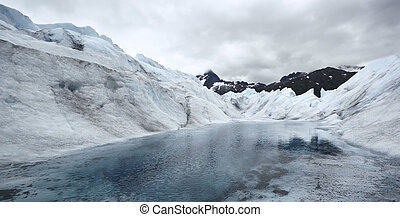 Lake in Mendenhall Glacier