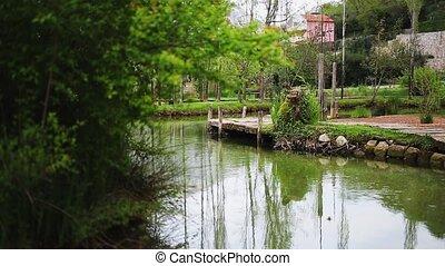 Lake in Montenegro, the village of Morin