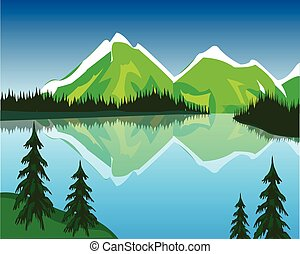 Lake in mountains - The Beautiful lake in mountain amongst...
