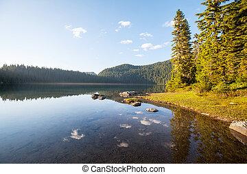 lake in Raineer National Park, USA