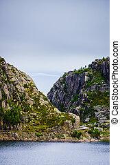 Lake in mountains Norway