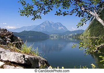 Lake in mountains panorama - Beautiful panorama of the lake...