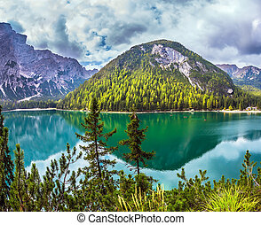 Lake in South Tyrol, Italy