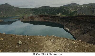 Lake in the Caldera volcano Ksudach. South Kamchatka Nature...