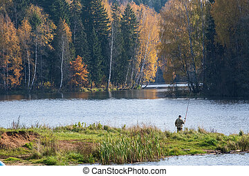 lake in the forest on a autumn day