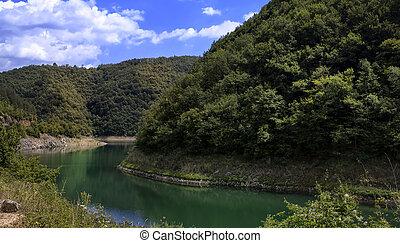 lake in the mountain