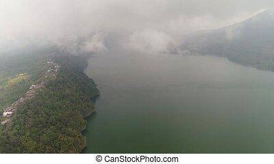 Lake in the mountains Bali,Indonesia - lake Buyan shores...