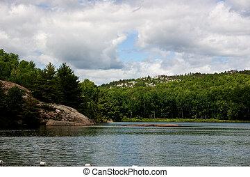 Lake in the Muskokas - Lake view in the Haliburton Ontario ...