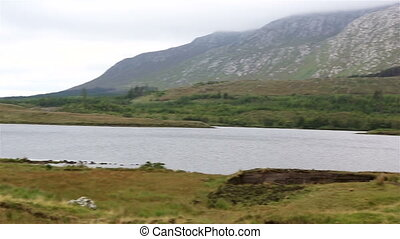 Lake in the National park Connemara.
