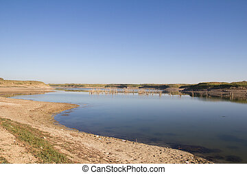 Lake in the steppes of Kazakhstan