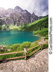 Lake in the Tatra Mountains at summer