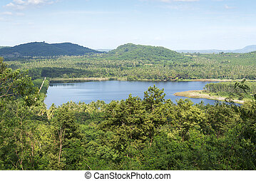 Lake in the tropics.