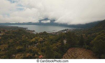 Lake in the volcano crater. Batur, Bali