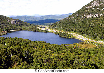 Lake in Vermont - Small lake near mountain in Vermont