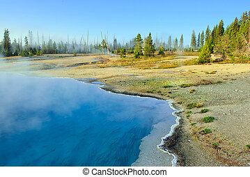 lake in West Thumb area in Yellowstone National Park, Wyoming
