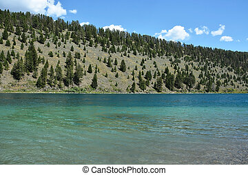 Lake in Yellowstone national park