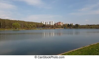 lake in Zelenograd administrative district of Moscow, Russia...