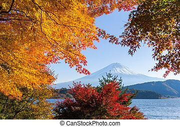 Lake kawaguchiko and Mt.Fuji