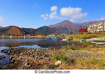 Lake kawaguchiko in Japan