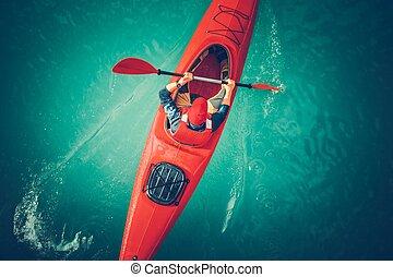 Lake Kayaking Aerial View