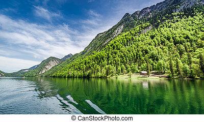 Lake Konigssee in the German Alps