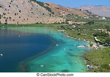 Lake Kournas at Crete island