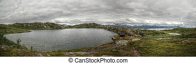 Lake Kratersjon near Bjorkliden in Swedish Lapland.