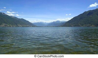 Lake Langensee in the canton of Tessin, Switzerland.