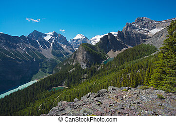 Lake Louise area in Canada