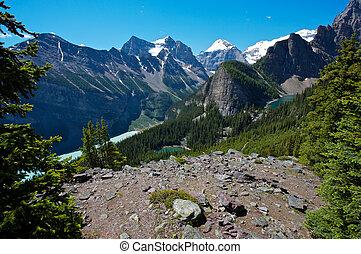 Lake Louise area in Canada