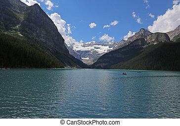 Lake Louise Canoers